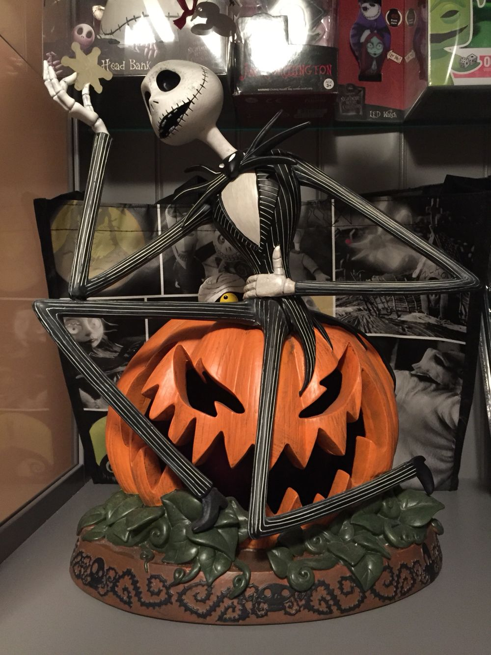 The figure is Tim Burton\'s Nightmare Before Christmas character Jack ...