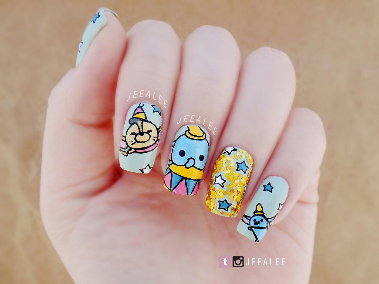Dumbo Tsum Tsum Nails - JeeA Lee\'s Nail Art | Nail art | Pinterest ...