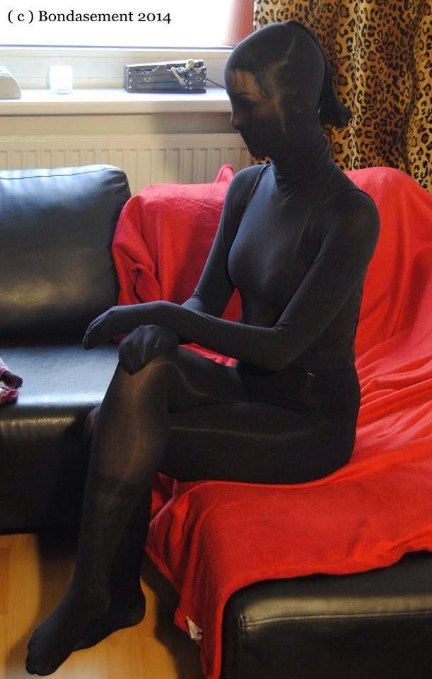 Patiently Waiting Encased Girl Encasement Nylon
