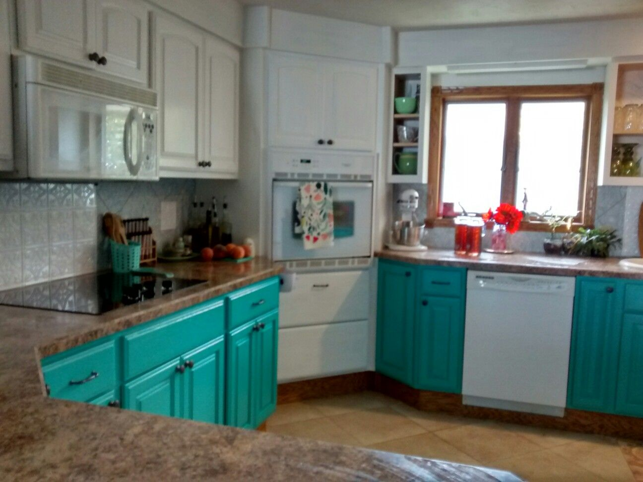 General Finishes Milk Paint Patina Green And Snow White Dreamy To Paint With Sealed With Refinishing Cabinets General Finishes Milk Paint Kitchen Cabinets