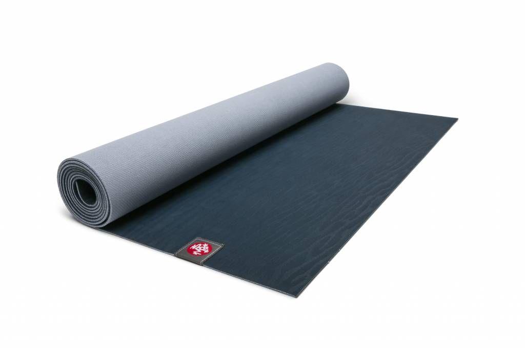 Manduka Eko Lite Yoga Mat Midnight Veerkracht Grip Rubber Technologie