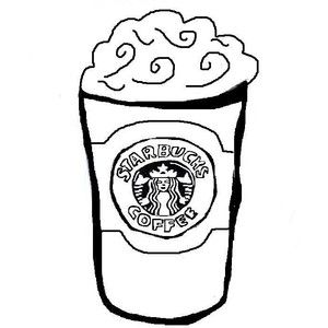 Starbucks Logo Coloring Page Sketch