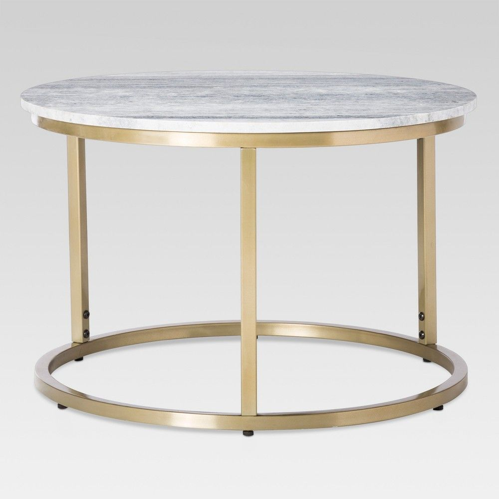Small Marble Top Coffee Table Gold Threshold Marble Top