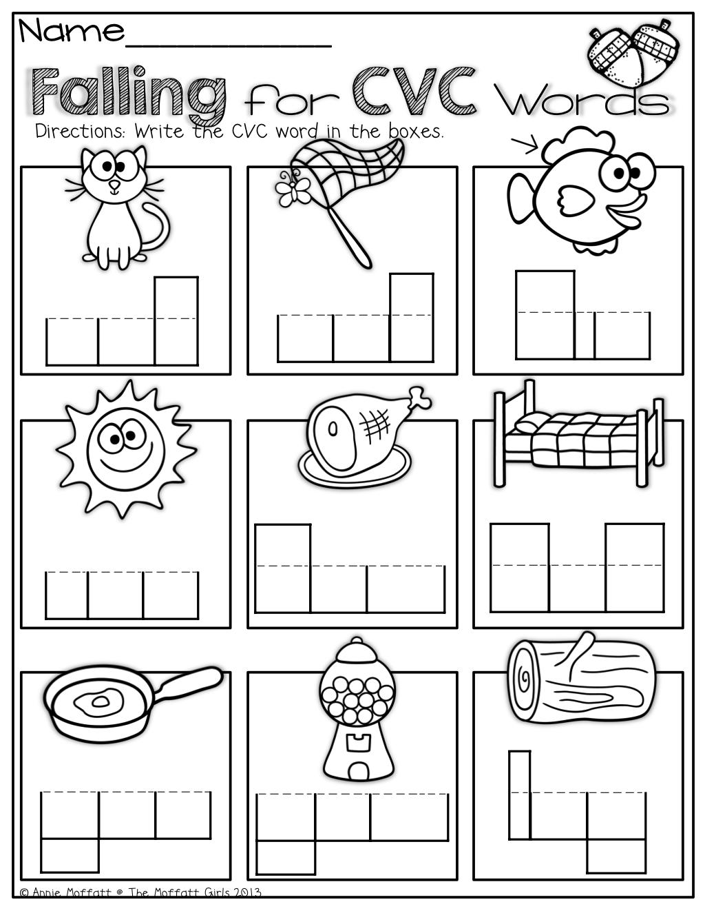 Cvc Word Work English Worksheets Cvc Worksheets