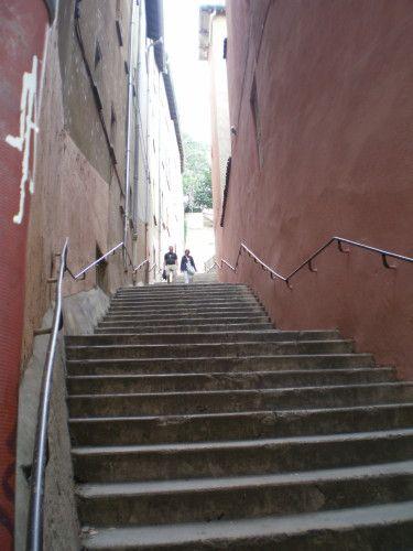 Le Vieux Lyon Escalier Montee Vers Fourviere Vieux Lyon