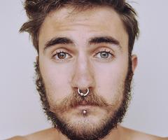 Facial piercings different
