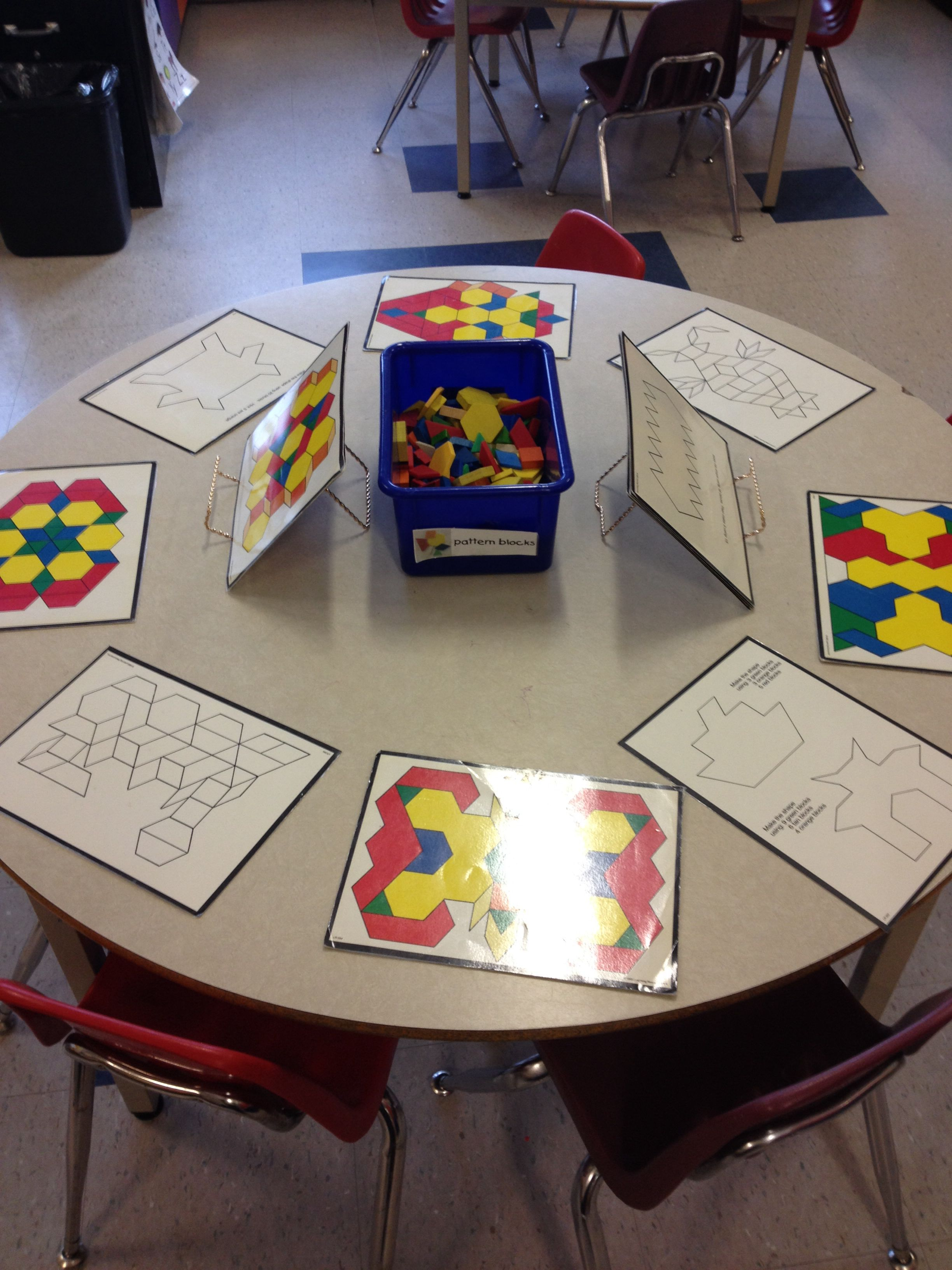 Pattern Blocks With Cards