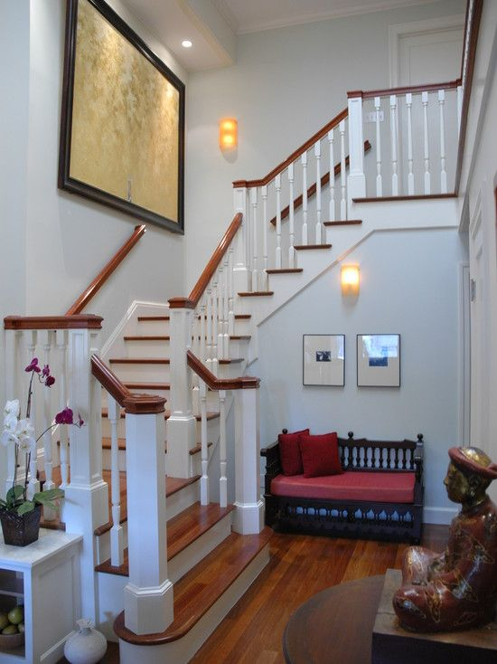 Colonial Home Staircase Design Ideas Pictures Remodel And Decor Home Stairs Design Staircase Decor Staircase Design