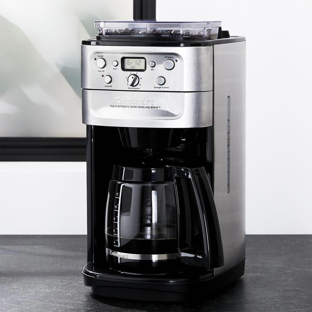Cuisinart grind and brew cup coffee maker crate and barrel