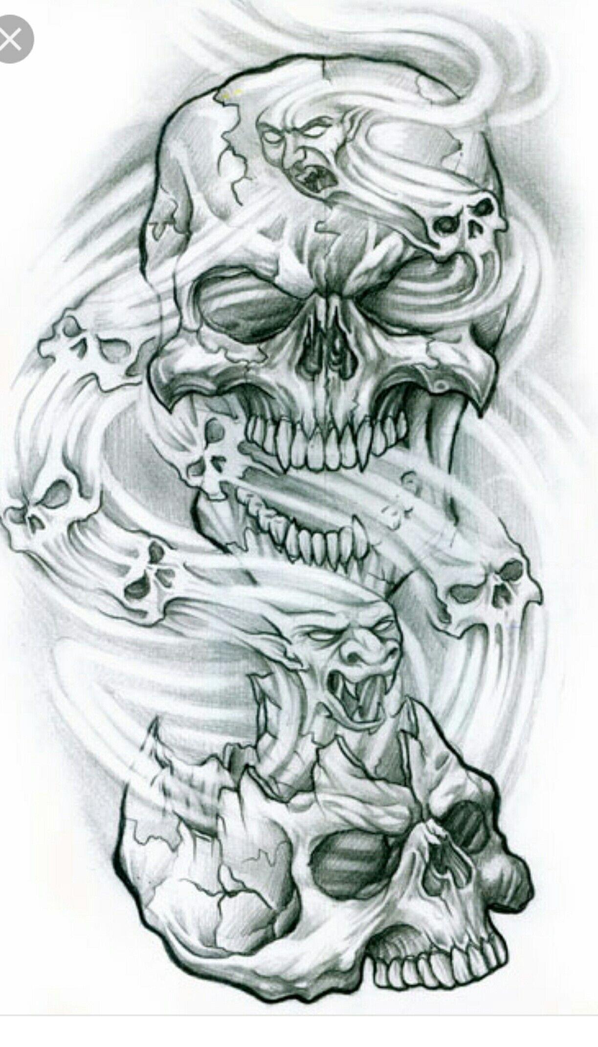 Pin By Todd Marples On Ghost Rider Smoke Tattoo Skulls Drawing Skull