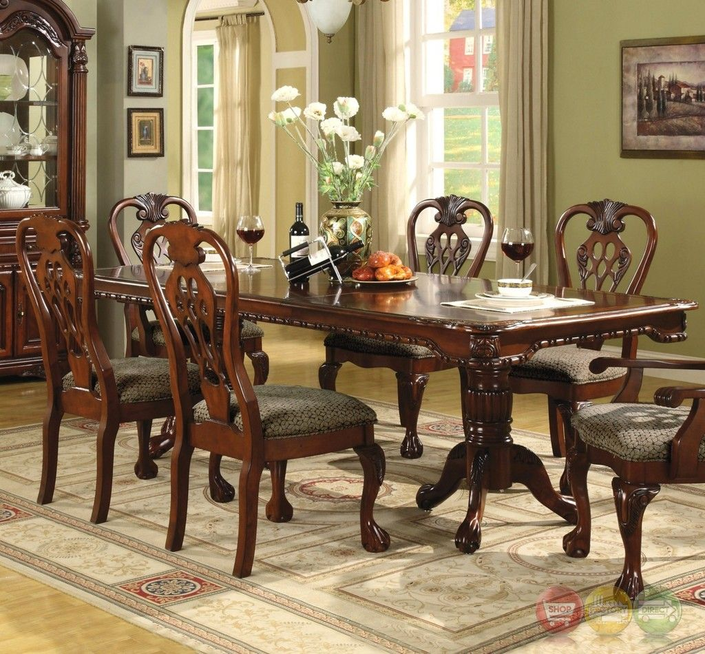 Dining room traditional dining room table on dining room with brussels formal 7 piece furniture set traditional dark 4 traditional dining room table dining