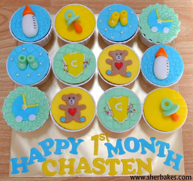 Life Is Too Short Eat Desserts Baby 1st Month Cupcakes 1st Birthday Cakes Baby Cupcake Dessert Cupcakes
