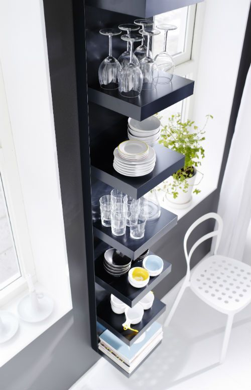 Now That Narrow Strip Of Wall Can Hold More Than Just Family Photos Or Art With The Lack Wall Shelf Etagere Murale Ikea Ikea Etagere Ikea