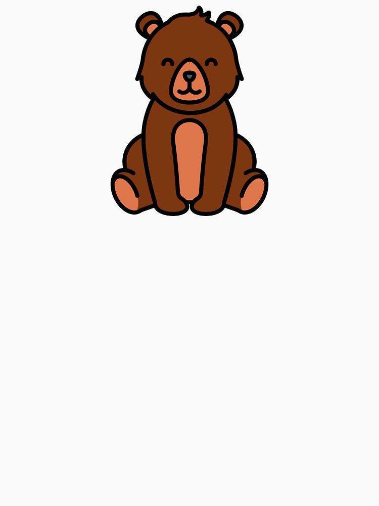 Cute Happy Bear Cartoon Logo Essential T Shirt By Passionemporium Bear Cartoon Cartoon Logo Happy Cartoon