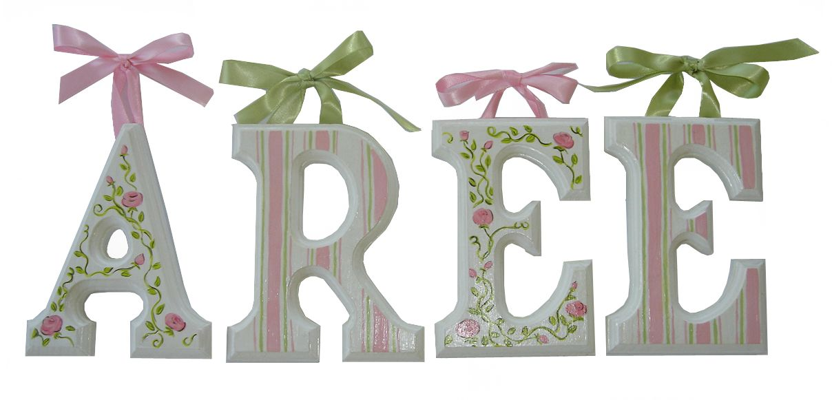 Wooden letters spelling out baby\u0027s name Baby Girl\u0027s Room