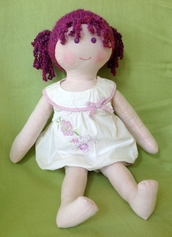 Maggie  22 Handmade cloth doll by WhimsicalWoodlands on Etsy, $65.00