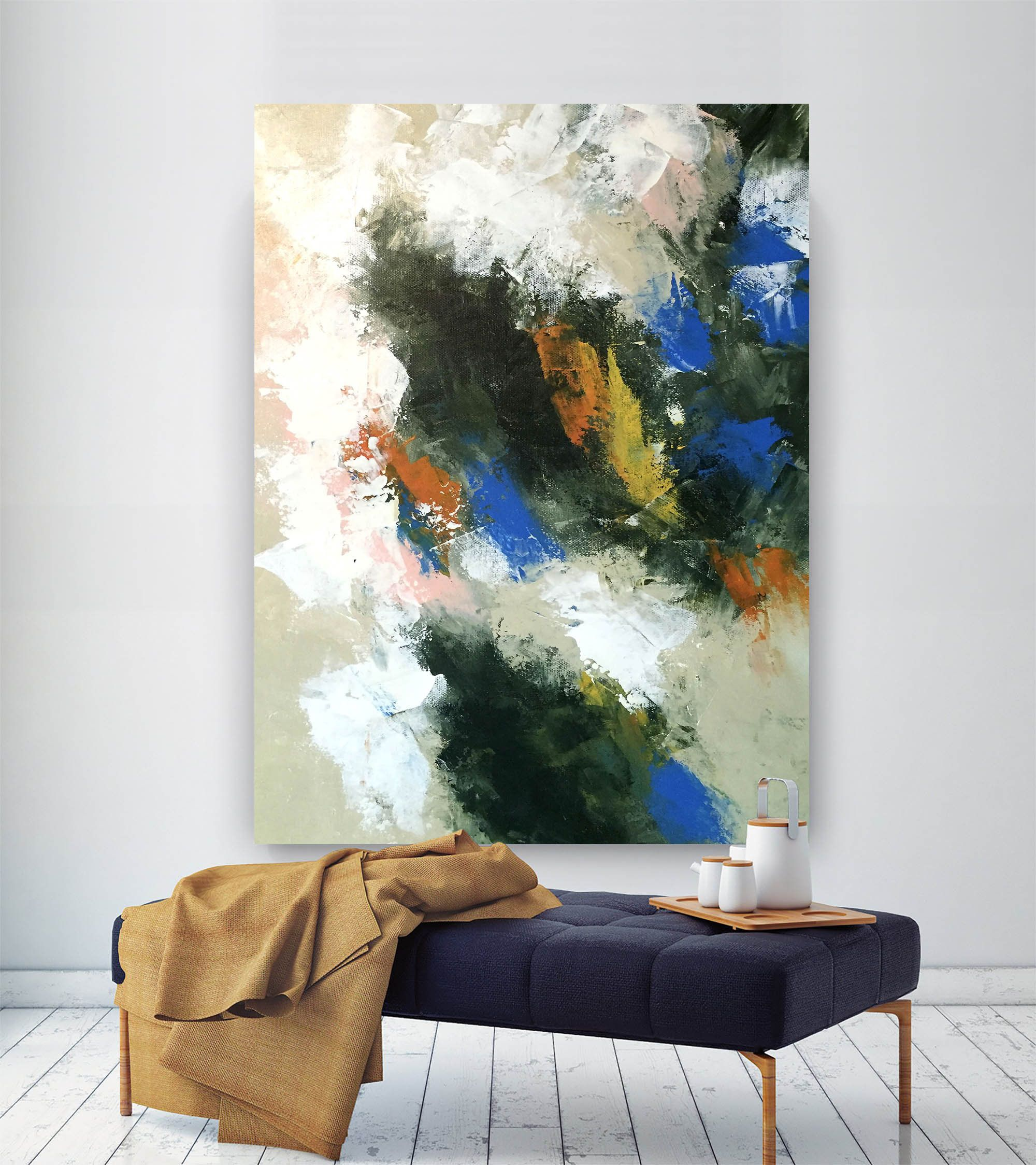 Large Abstract Paintingmodern Abstract Paintingpainting Wall Etsy Bedroom Artwork Modern Abstract Painting Abstract Decor