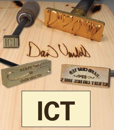 Custom Made Branding Irons Up To 12 Initials Wood
