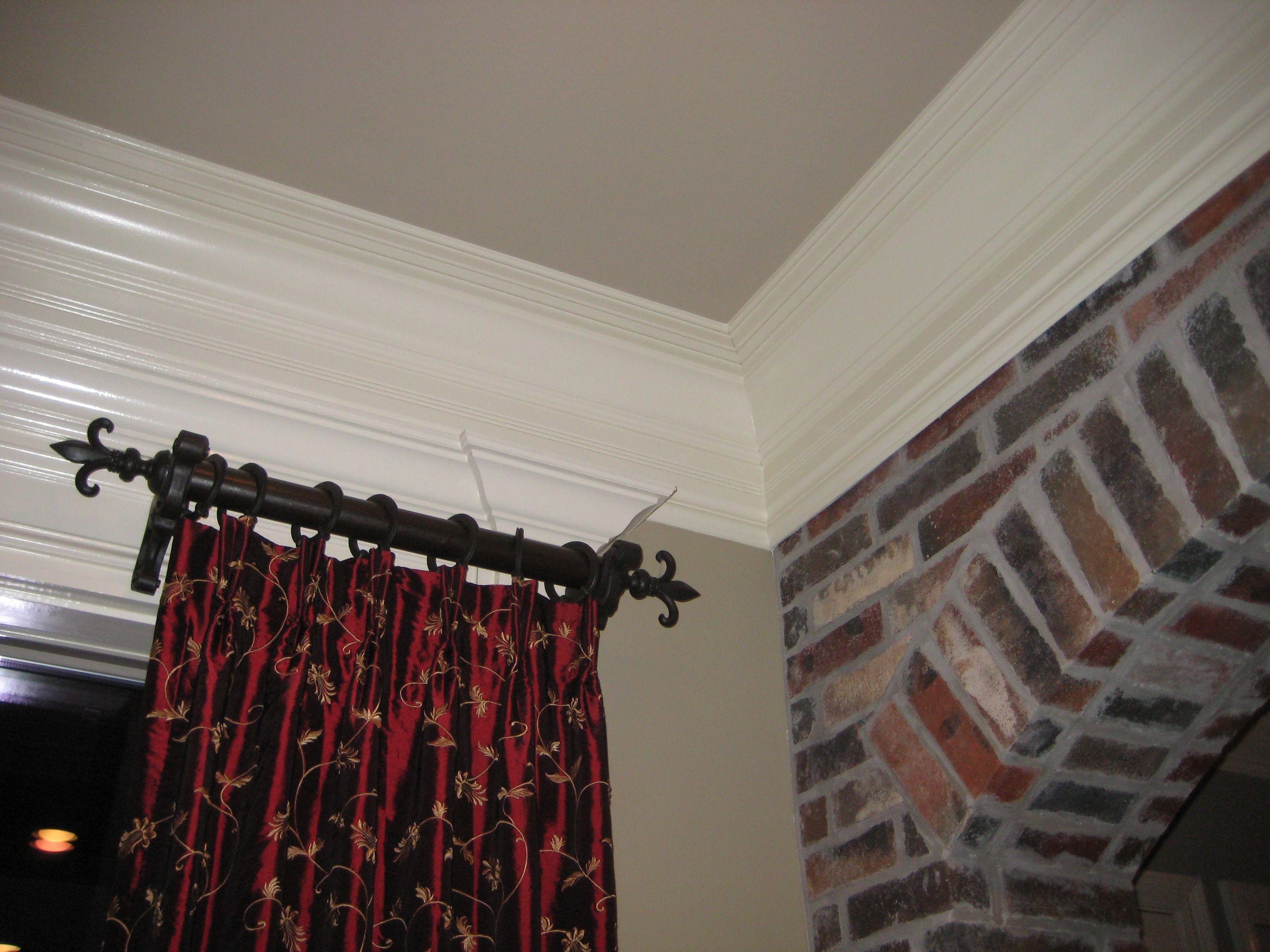 curtain rod drop cloth curtains