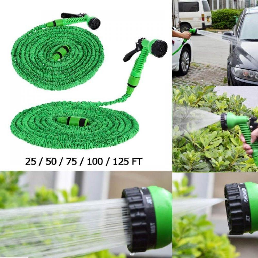 New Deluxe 25 50 75 100 125 175 200 Feet Expandable Flexible Garden Water Hosea With Spray Nozzle Drop Shipping Riego Bombillas Y Ropa De Hombre