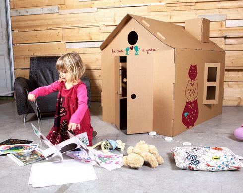 Pin De Recyclart En Kid S Stuff Casas De Cartón Casa De Cartón Casitas De Carton