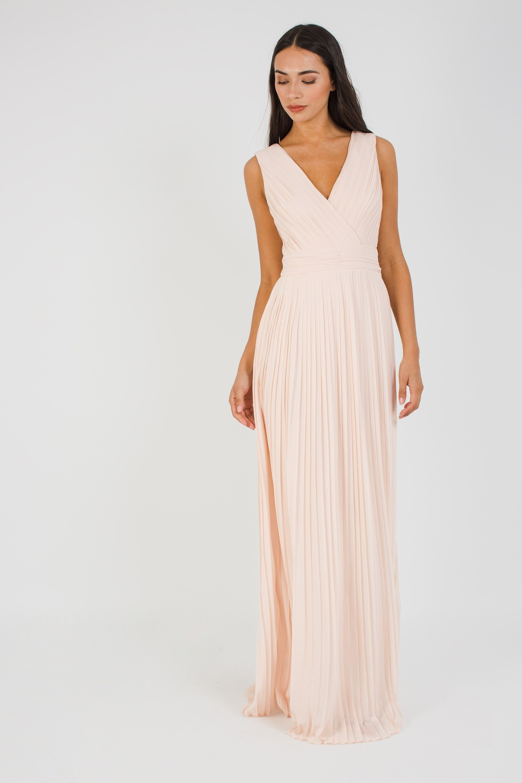 4be8867931f80 STELLA NUDE MAXI DRESS   TFNC MAXI DRESSES   Bridesmaid dress   Nude ...