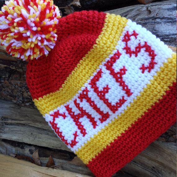 045725e2 Kansas City Chiefs crochet hat Chiefs hat Chiefs by tingleyCrochet ...