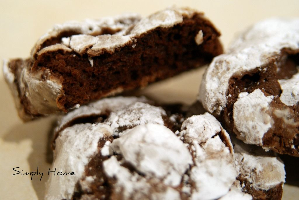 Dark Chocolate crinkles