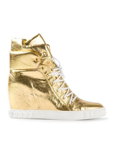 a1c1cf0b30d6a CASADEI - Lace-Up Sneaker Gold Wedge
