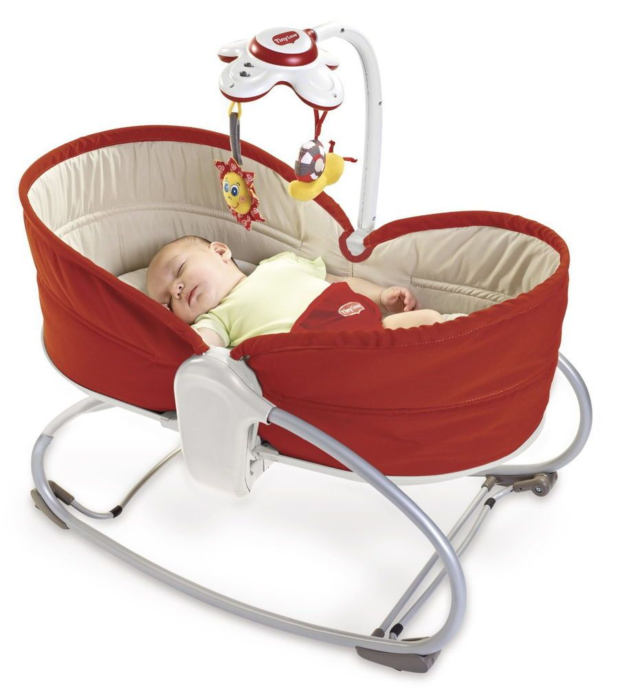 Baby Rocker Napper Sleeper Bassinet Newborn Reclines Vibrates Soothe Play Red Tinylove Baby Rocker Rocker Napper Tiny Love Rocker Napper