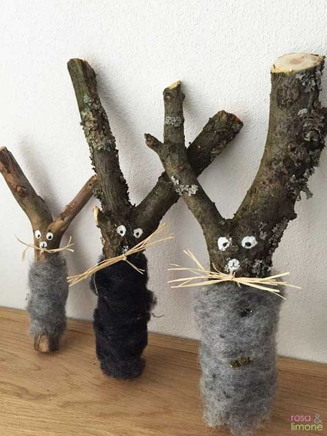 Easter bunny branches for handicrafts