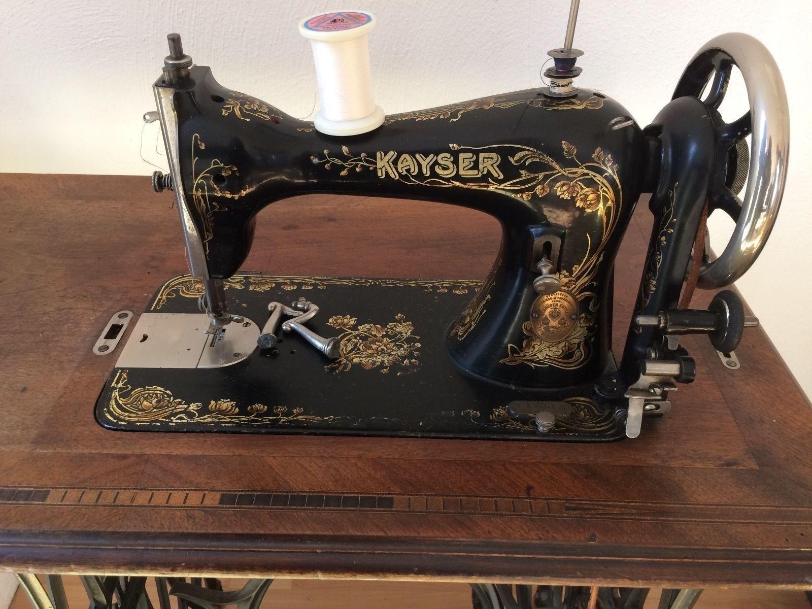antike kayser n hmaschine in antiquit ten kunst haushalt n hmaschinen ebay vintage. Black Bedroom Furniture Sets. Home Design Ideas