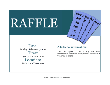 A Raffle Is A Fun Way To Drum Up Funds For A Special Cause You