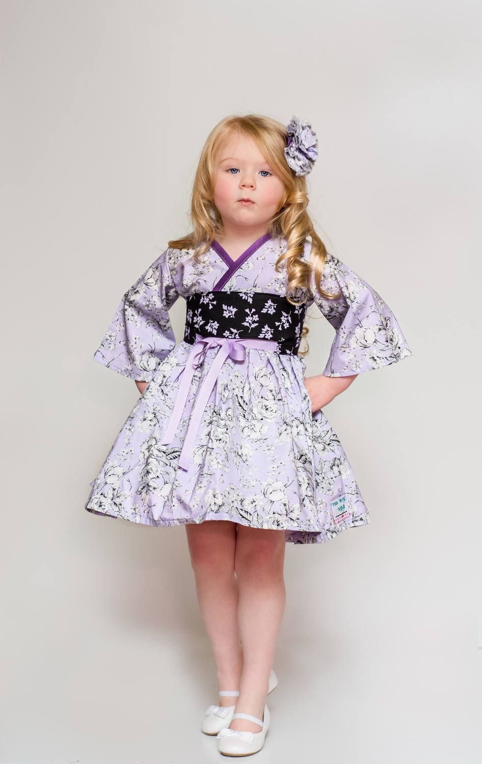 Purple Dress Birthday Party Dress Tea Party Little