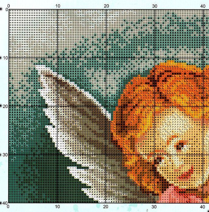 FREE CROSS STITCH CHARTS: ANGEL & CHILD  PG 3 OF 6