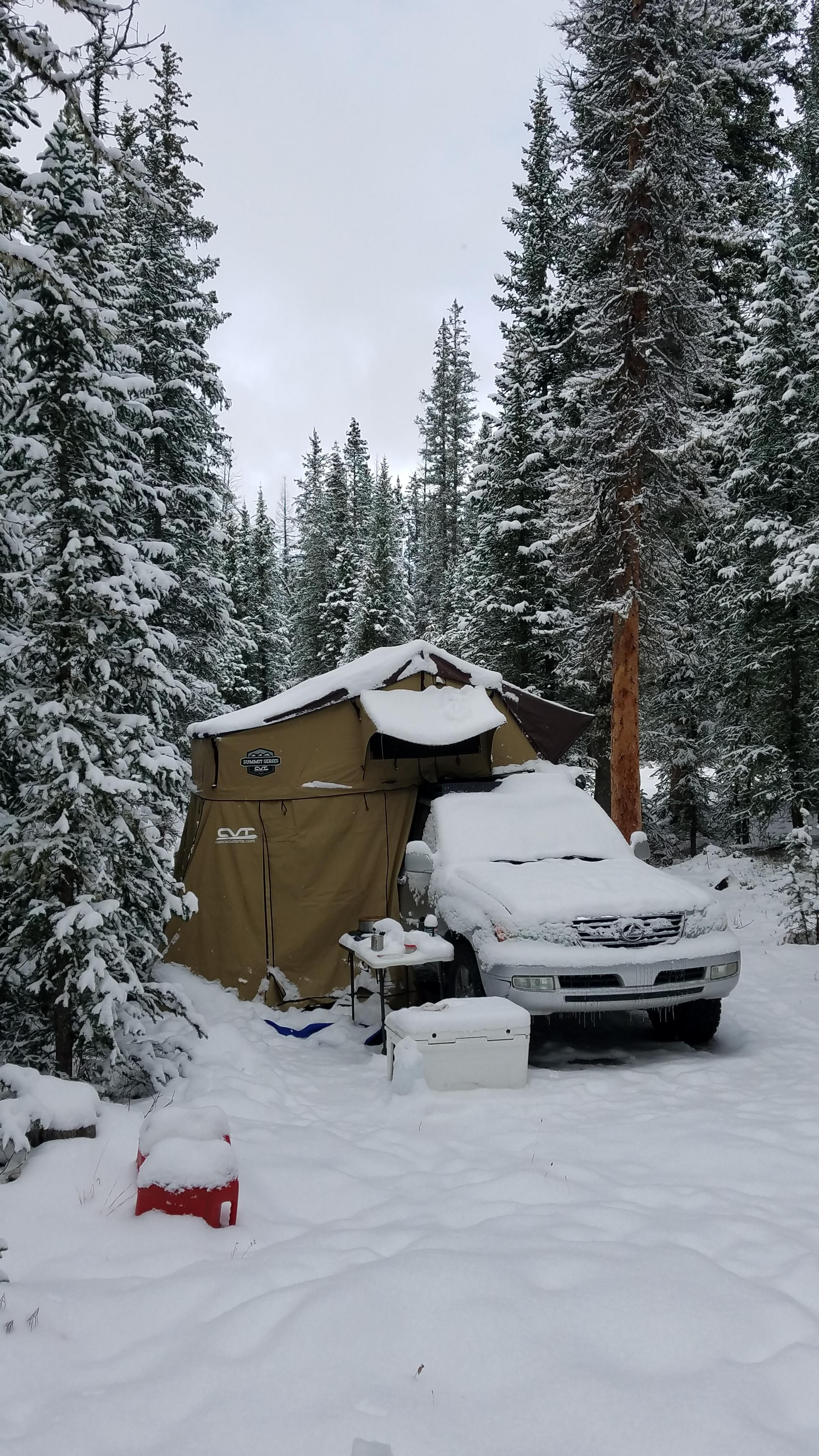 Pretty good setup for cold weather camping! #camping # ...