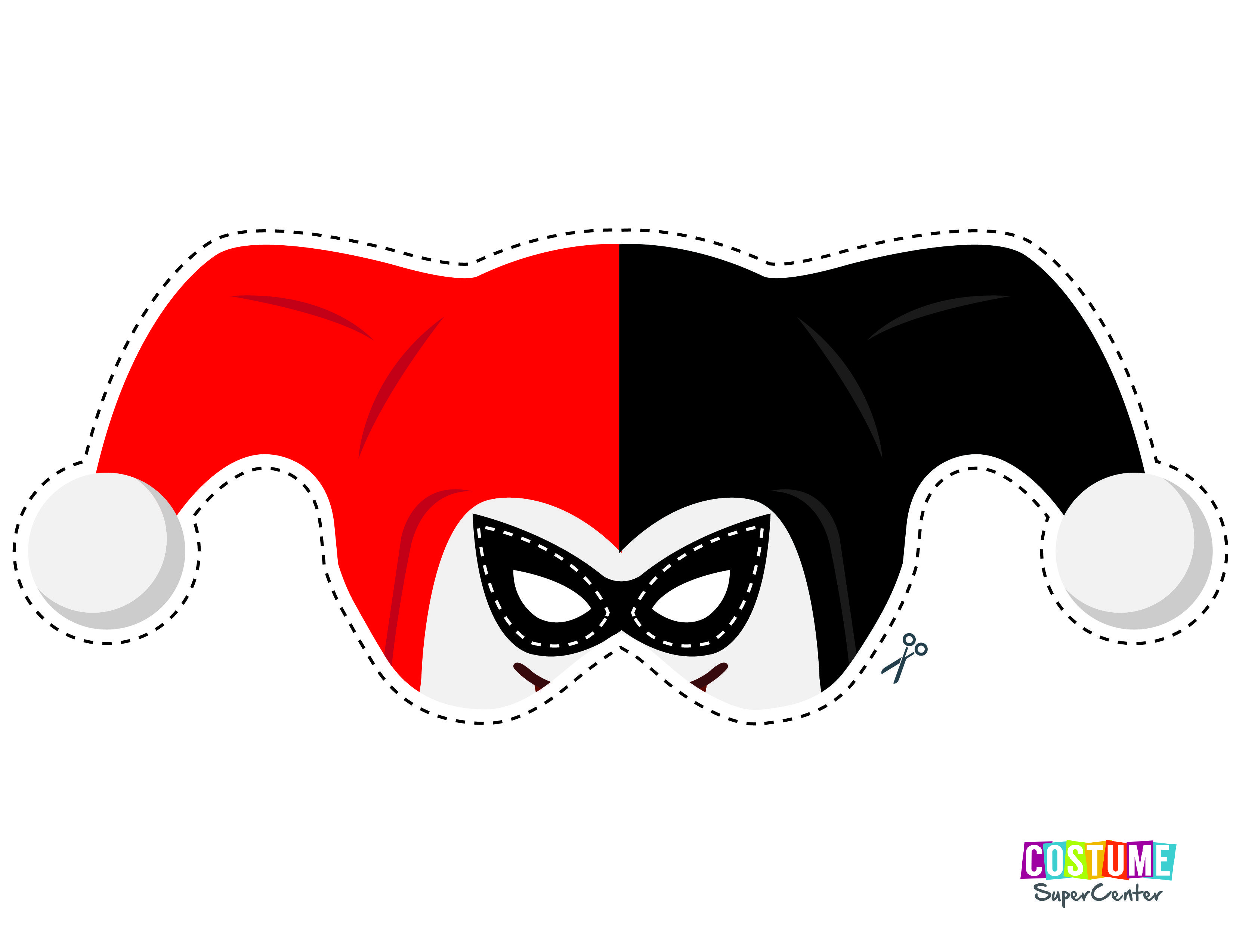 Nice Harley Quinn Mask Template Ensign - Entry Level Resume ...