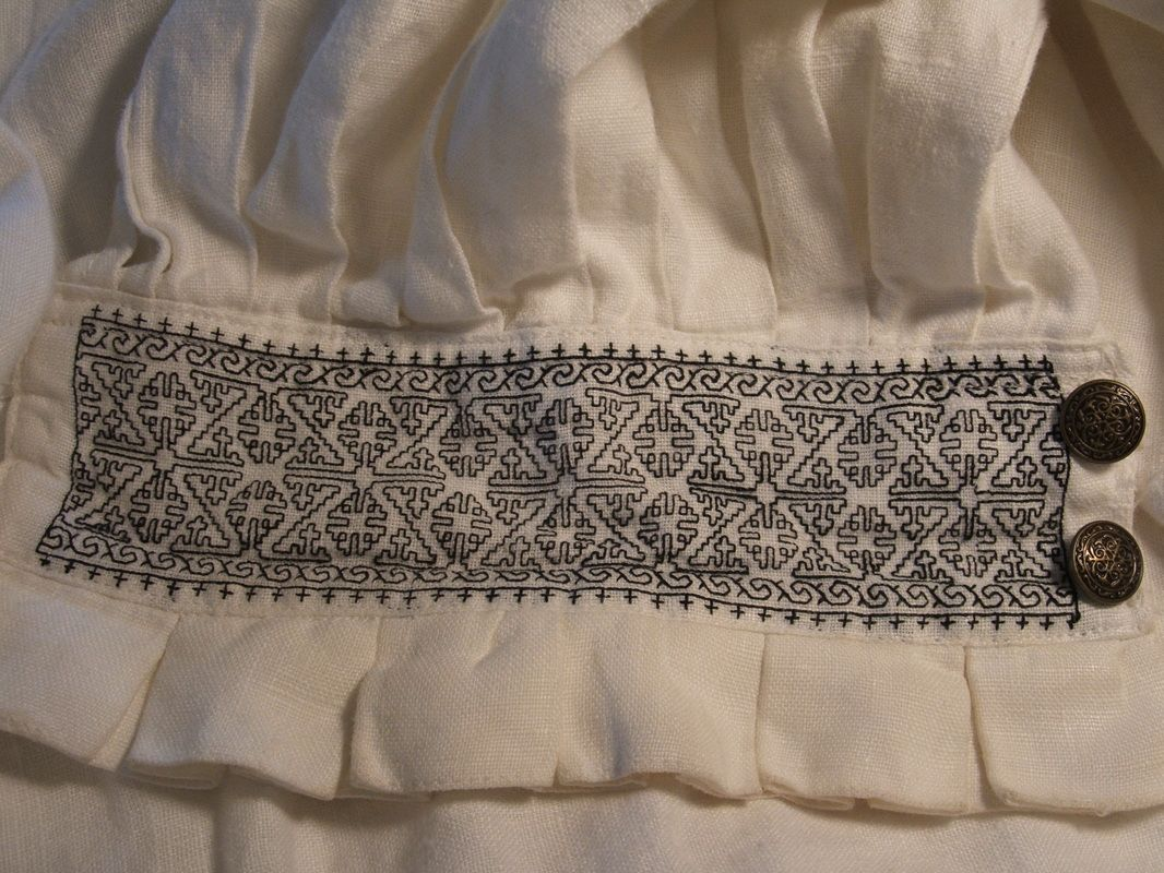 The garment this counted blackwork decorates is a mid 16th mid century style english tudor mens shirt with blackwork embroidery pattern the pattern can be charted directly back from the famous seymour cuffs bankloansurffo Gallery