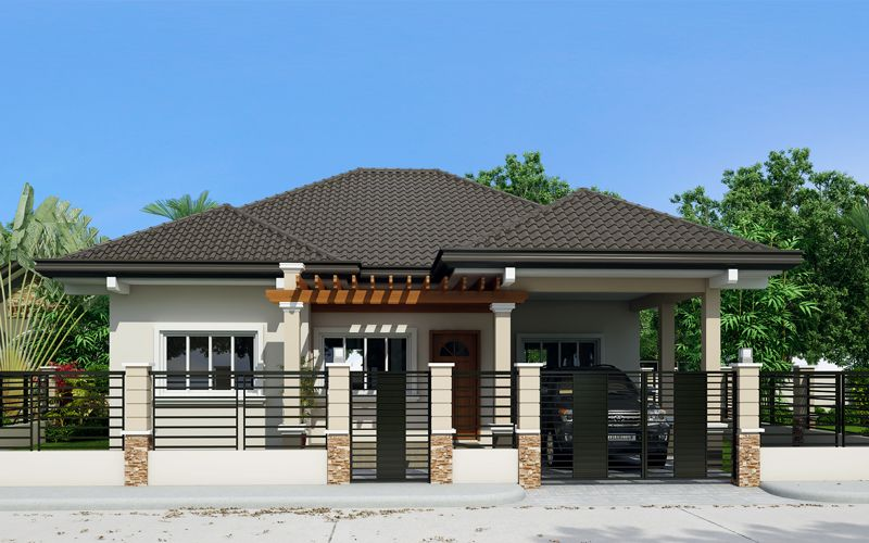 Clarissa one story house with elegance pinoy eplans for Small single story modern house plans
