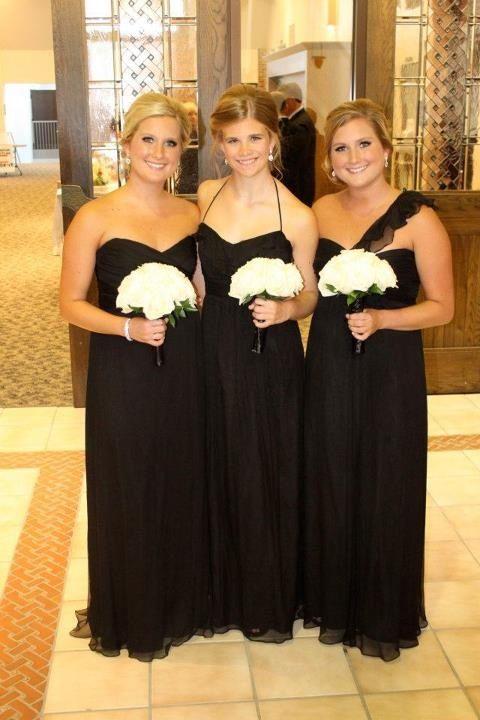 Black Silk Crinkle Chiffon | Weddings | Pinterest | Black silk ...