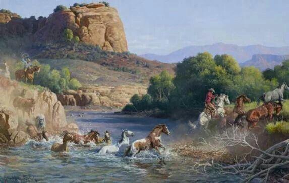 ❦ Artist Clark Kelley Price - Along the Dusty Trail