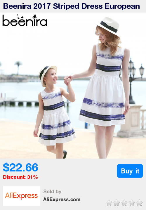 e5e45c8132df Beenira 2017 Striped Dress European and American Style Family Matching  Outfits Mother Or Daughter Dress Sleeveless