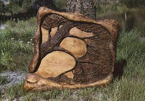 tree relief carving