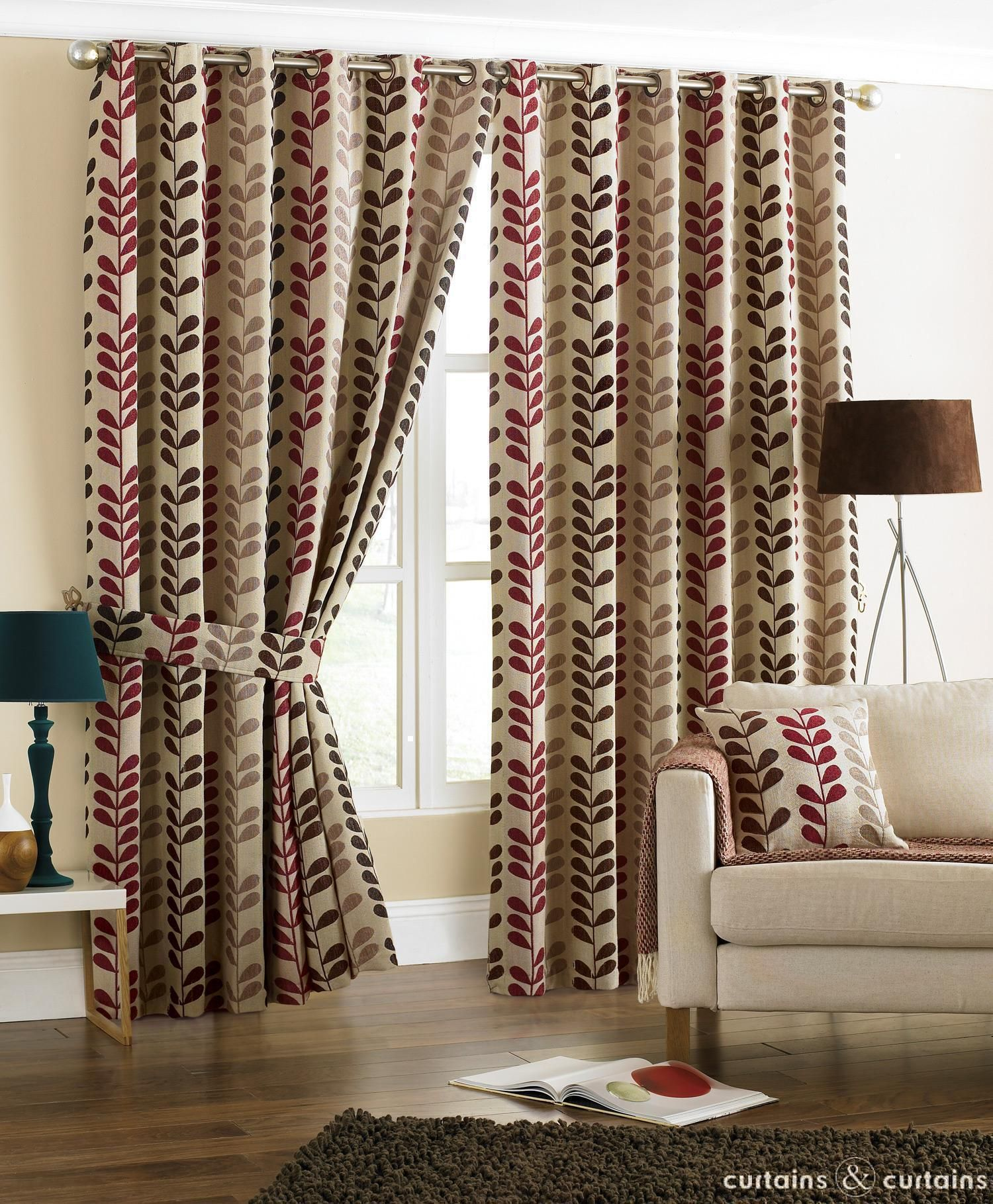 Brown And Cream Living Room Curtains