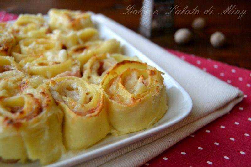 Rotolini di pasta speck e brie italian food pasta for Ricette italiane primi piatti