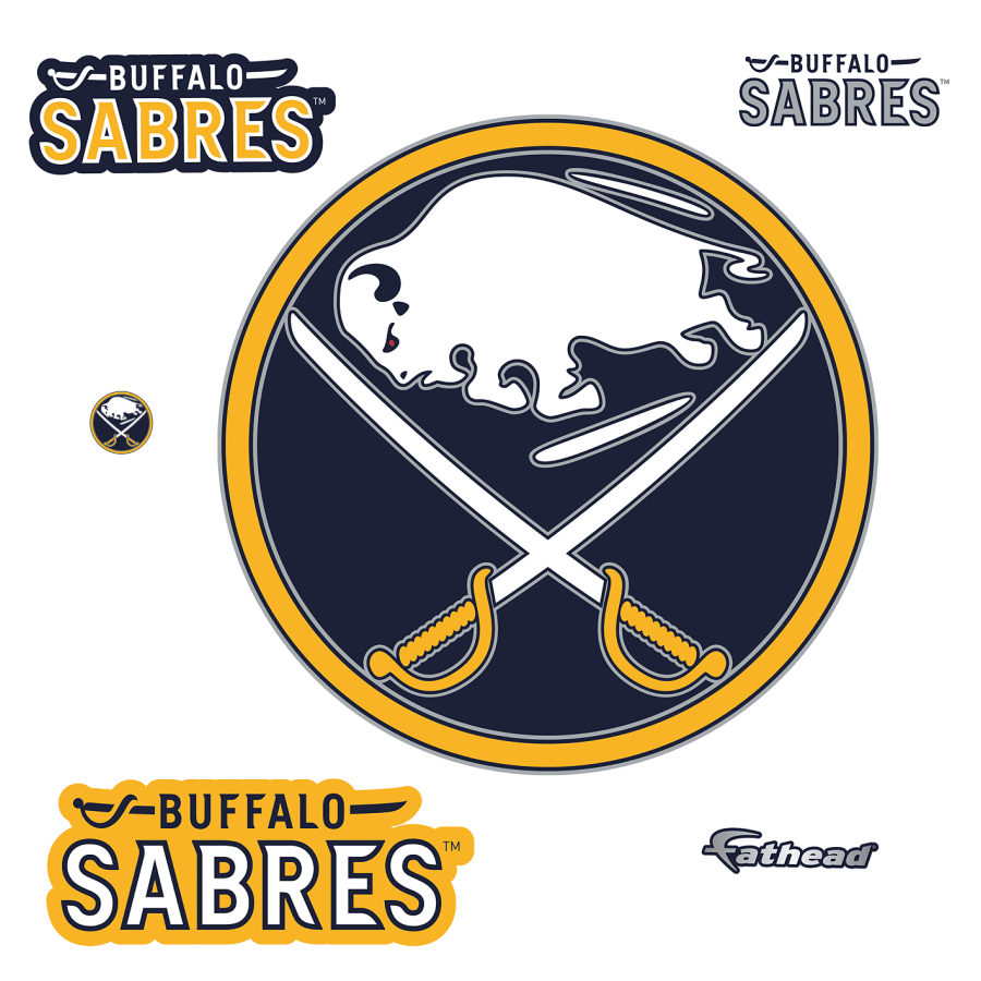 Buffalo Sabres Logo Giant Officially Licensed Nhl Removable Wall Decal Buffalo Sabres Removable Wall Decals Nhl