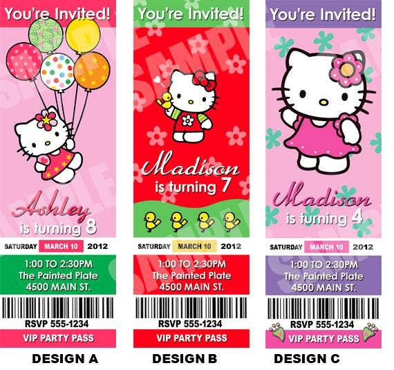 Printable Hello Kitty Birthday Party Invites Customize With Your