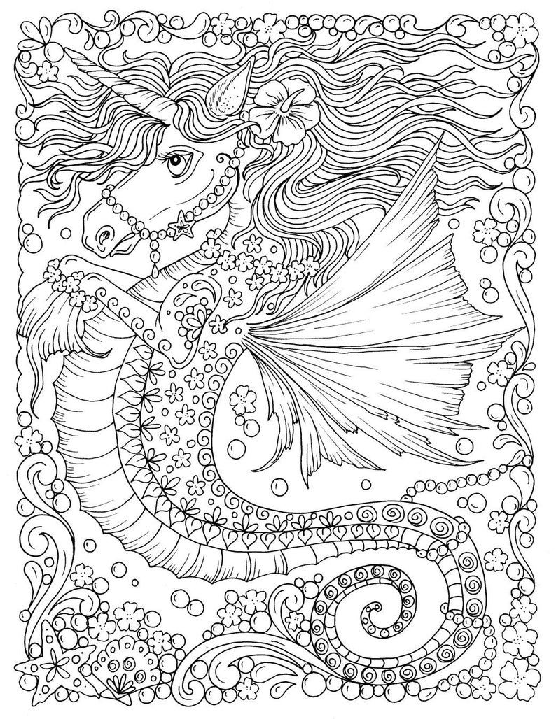 Fantasy Digital Download printable book adult coloring ...