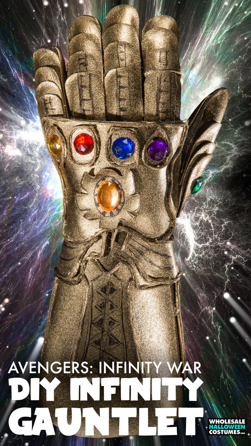 diy infinity gauntlet costume upgrade making puppets props and