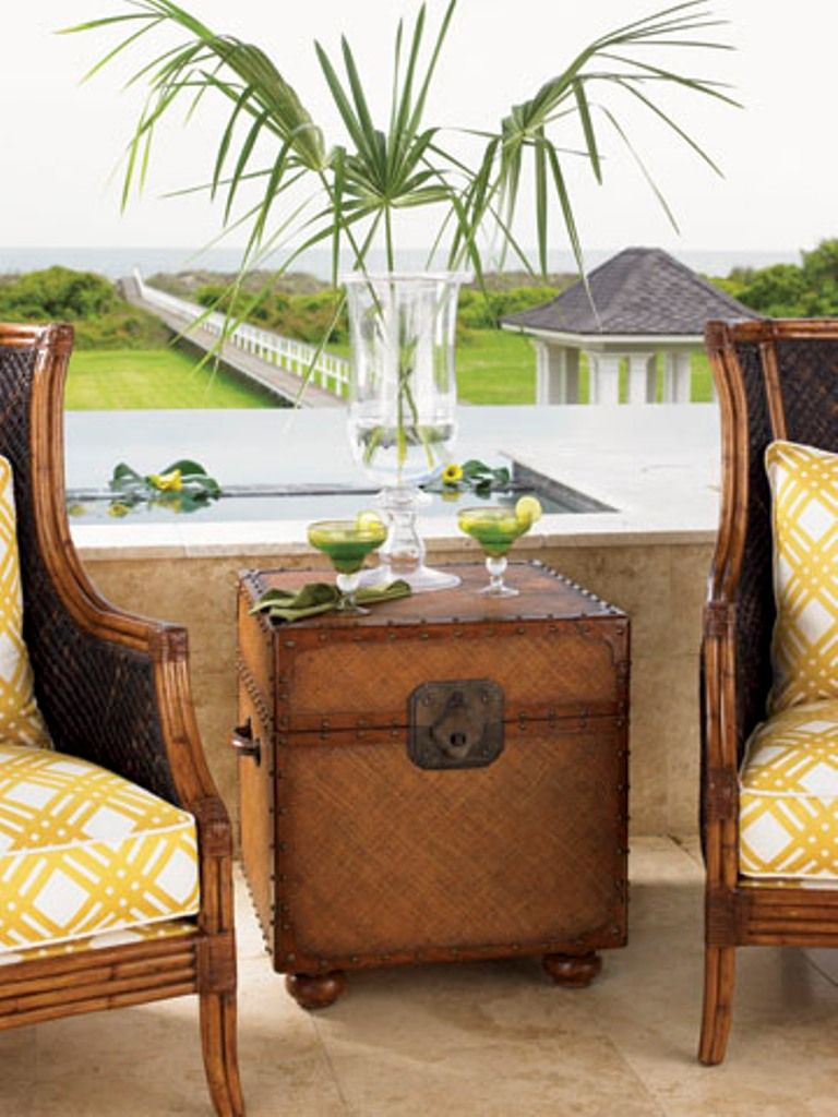 Tommy Bahamas Furniture Trunk For Side Table In Sitting Room